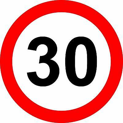 30 Mph road safety sign