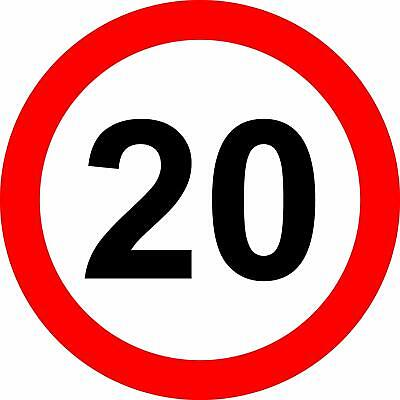 20 Mph Reflective RA2 Road legal Safety sign