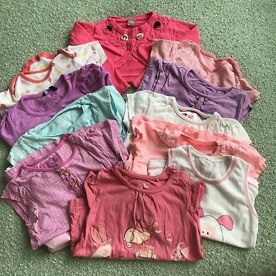 Baby Bundle Sz 18-24 Months 13 Items Tshirts Babygrows Multi Style And Colours