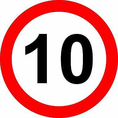 10 Mph Reflective RA2 Road legal Safety sign
