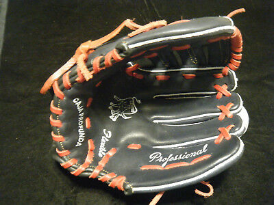 """New Seyer Palomares Mexico Flag leather black/red baseball glove 12.5"""""""