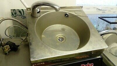 2 Automatic Auto SENSOR Steel HAND WASH BASIN Sink with TAP Waste Plug Included