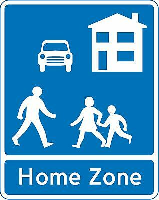 Home Zone Entry Road safety sign - 600mm x 400mm
