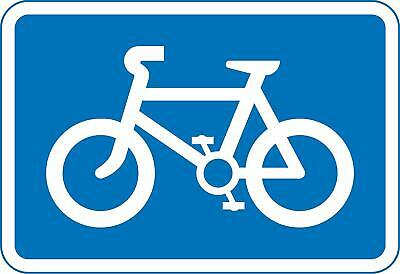 Recommended route for pedal cycles Road safety sign - 400mm x 600mm