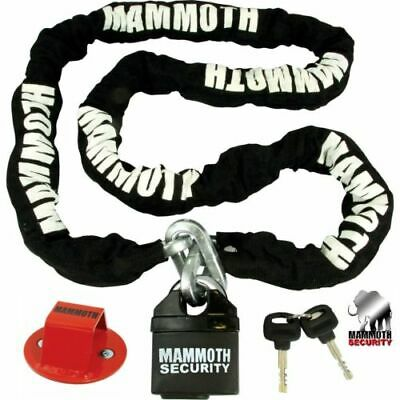 MAMMOTH MOTORCYCLE SECURITY 10mm 1.8M CHAIN HEXAGON LOCK + ANCHOR