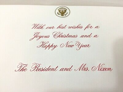 White House President Richard Nixon 1969 Christmas Card