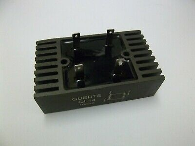SINGLE PHASE BRIDGE RECTIFIER. 1000 volts. 45 AMPS. Made by GUERTE, QL14, 10C45.