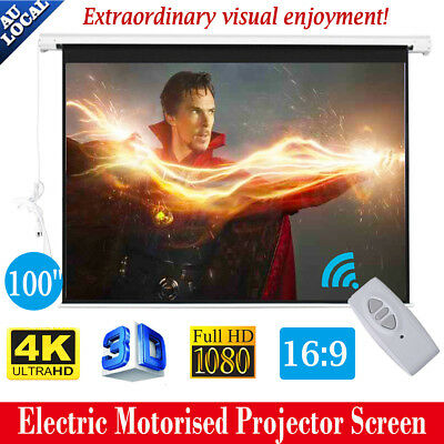 """100"""" Portable Electric Motorised  Projector Screen Conference Presentation HD"""