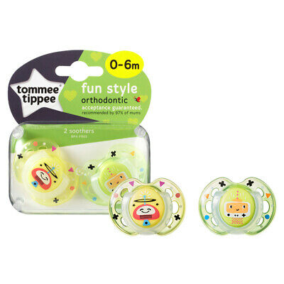 Tommee Tippee Closer to Nature Fun Air Soother 0-6m 2Pk Unisex