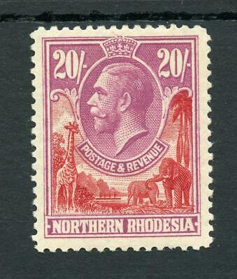 Northern Rhodesia 1925-29 20s carmine-red and rose-purple SG17 MVLH