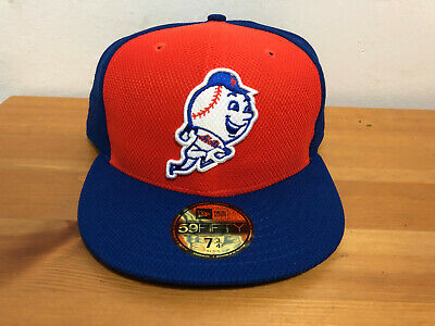 New York Mets New Era Royal Orange Blue 59FIFTY Fitted Hat Cap 7 3 4 d3b54433575f