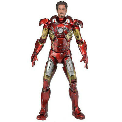 IN STOCK NECA Avengers Iron man Mark VII 7 Robert Downey Tony 1/4 Battle Damaged
