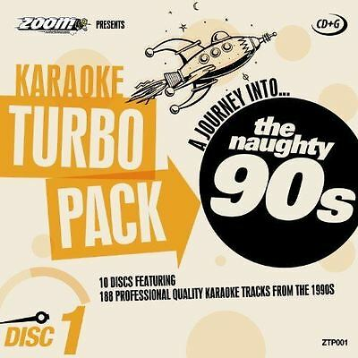 Zoom Karaoke CD+G Turbo Pack The Naughty 90s 10 Disc Set New Sealed