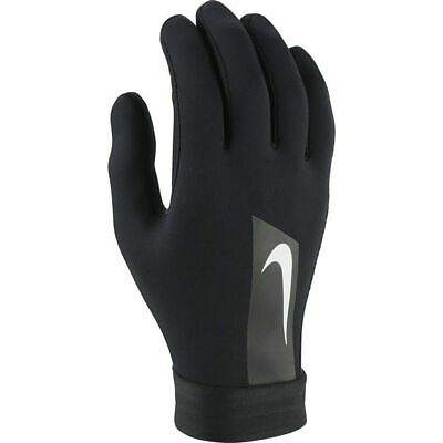 Nike Football Gloves Players Hyperwarm Mens Boys Black Training