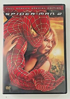 Spider-Man 2 DVD (Full Screen Special Edition) 2004 Tobey Maguire, Kirsten Dunst
