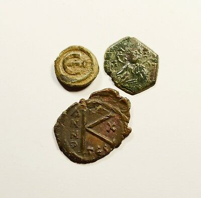 Ancient Byzantine Bronze Coin - LOT OF 3