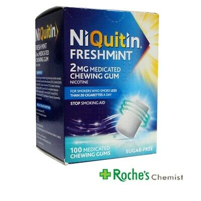 Niquitin Freshmint Nicorette Chewing Gum 2mg x 100 pieces