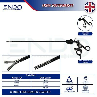 ENDO Laparoscopic Laparoscopy CLINCH Fenestration Fenestrated Dissector 5mm 33cm