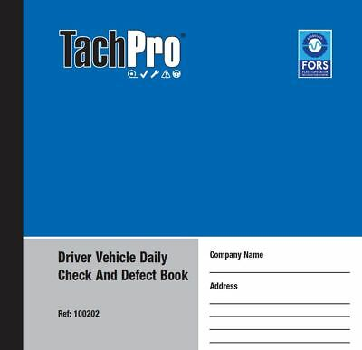 Tachpro Vehicle Defect & Check Books 50 pages in Duplicate x 50 2500 Pages