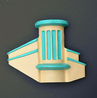 Art Deco Wall Plaque - Vintage1930's Cinema Building Odeon Style blue or green