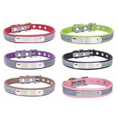 PU Leather Personalized Dog Collars Engraving Custom Cat Pet Name ID Collar