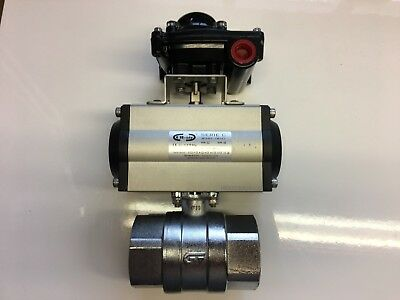 "Pneumatic  Ball Valve 2"" BSP + Switch Box Indicator."