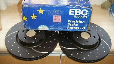 Ford Focus RS mk2 2.5l Front Brake Discs EBC Turbo Grooved Uprated PAIR GD1700