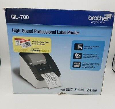 New - Brother QL-700 High Speed Professional Thermal Label & Postage Printer