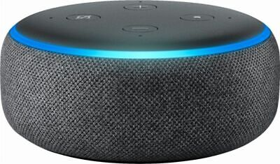 New Amazon Echo Dot Smart Speaker 3rd Generation w/ Alexa Charcoal Heather Gray