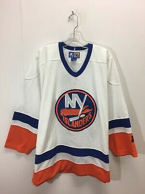 b94181c25 VINTAGE STARTER YOUTH Ny New York Islanders Wave Nhl Hockey Jersey L ...