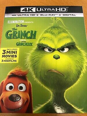 BRAND NEW!! ***THE GRINCH (2018)***4K ULTRA HD+BLU-RAY+DIGITAL, Canadian Version