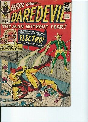 Daredevil # 2 1964  Fantastic Four App 2nd app Electro Thing Very Good +