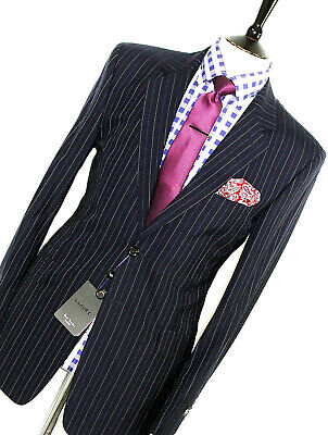 Bnwt Rare Mens Paul Smith Westbourne London Navy Pinstripe Suit 40R W34 X L32