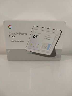 "NEW Google Home Hub with Google Assistant Smart 7"" Display Charcoal sealed!!!!"