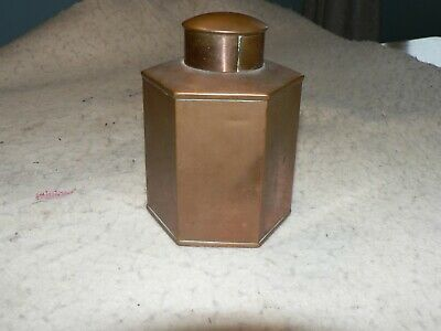Antique copper lead shot canister