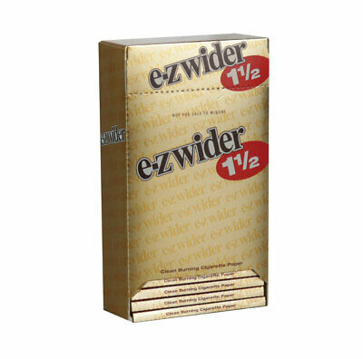 """24pc Display -  EZ Wider Rolling Papers Gold - 1 1/2"""""""