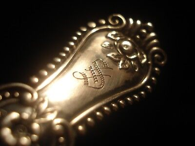 c 1896 Antique Sterling Neoclassical Victorian Cold Meat Bright Cut Fork, 1.2TOZ