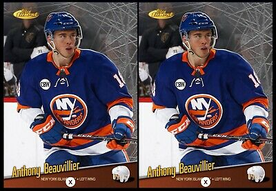 2x 18-19 THROWBACK ANTHONY BEAUVILLIER Topps NHL Skate Digital Card