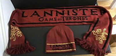 Game of Thrones  house of  lannister   scarf and beanie hat