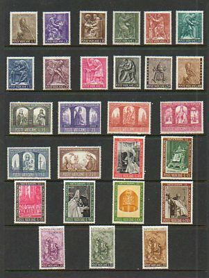 Vatican City Complete Year Sets - 1966-1967 - MNH