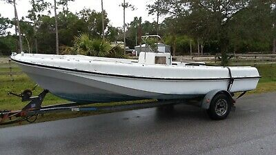 1973 Boston Whaler Outrage 19 Center Console with Galvanized Trailer
