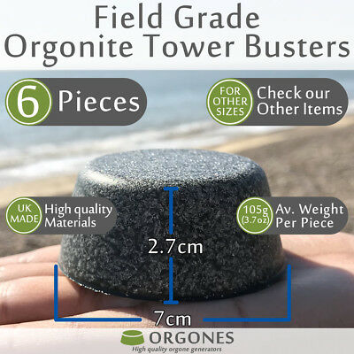6x Orgonite Tower Busters TBs made using amethyst rose quartz crystals aluminium