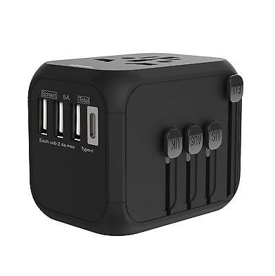 TRAVELPAL: Universal Travel Adapter with Premium Case (high-Speed 5 amps, 3 USB