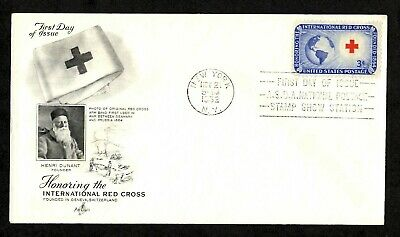 FDC International Red Cross First Day Cover 1952 Artcraft
