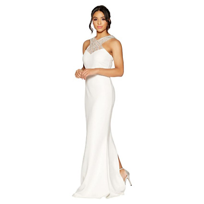 RRP £79, NEW Quiz - Amelia white embellished bridal dress, SZS 10-20