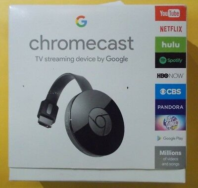 Google Chromecast Digital HD Media Streamer 2nd Generation Black FREE SHIPPING