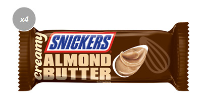 915052 4 x 39g BARS SNICKERS CREAMY ALMOND BUTTER FLAVOUR CHOCOLATE BAR