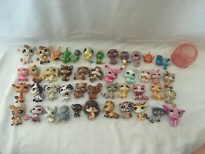 LPS Lot of Over 40 Littlest Pet Shop Animals, Play Set, and Accessories