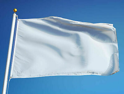Plain White Flag Choose Size Customise Your Own Design At Home 9x6ft 5x3ft 3x2ft