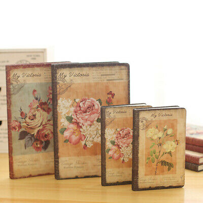 Retro Floral Flower Schedule Book Diary Weekly Planner Notebook School Offi M3O1